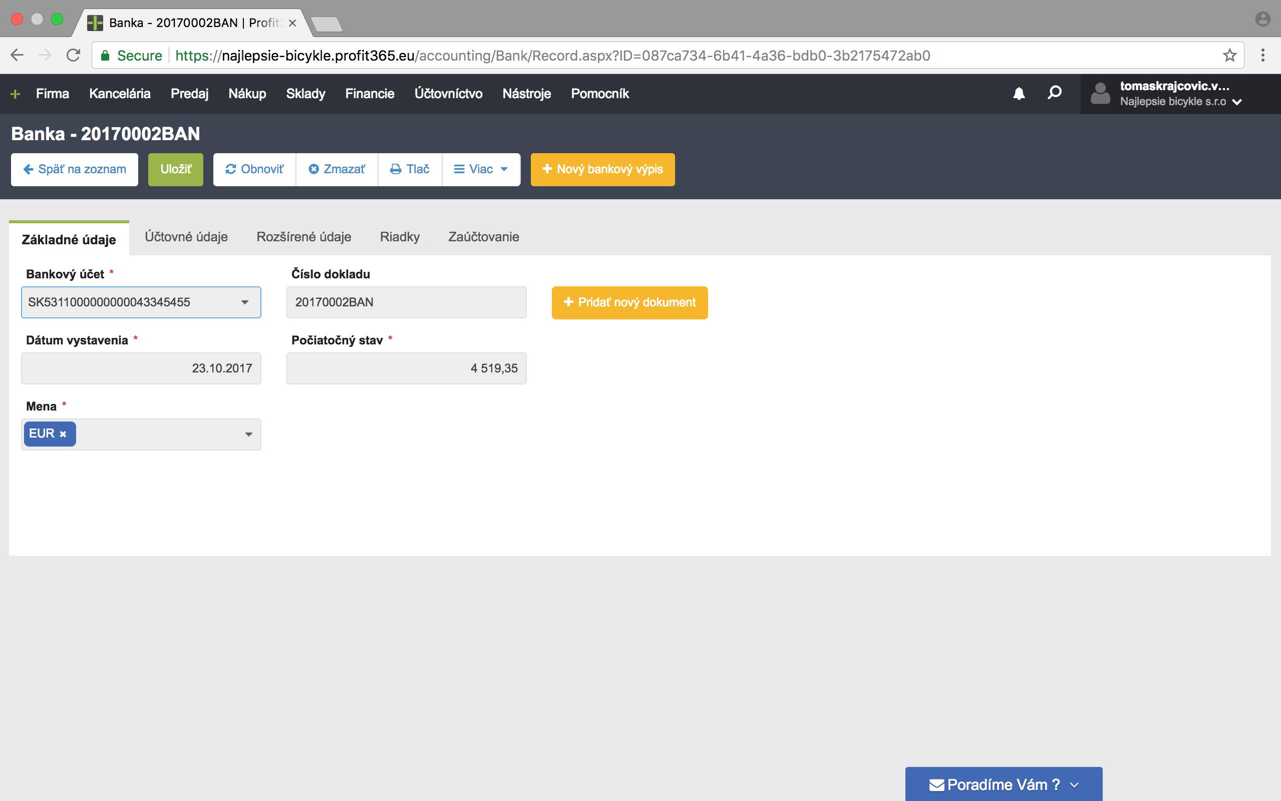 Banka online Profit365