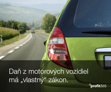 """Daň z motorových vozidiel má """"vlastný"""" zákon"""